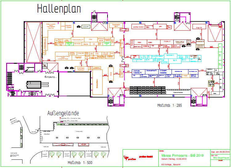 Der Hallenplan für die BIB 2019