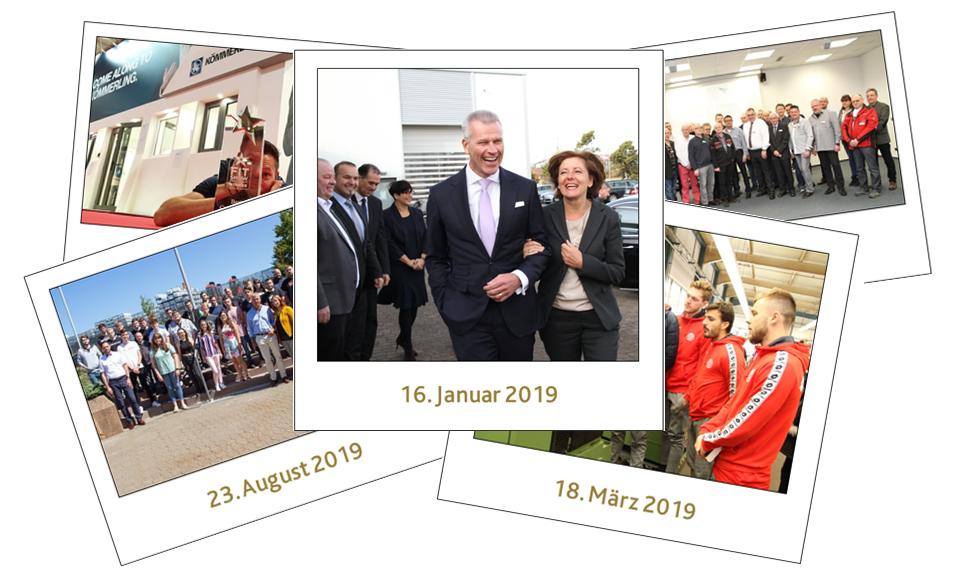 Eine Bildercollage der fünf Bilder des Jahres 2019