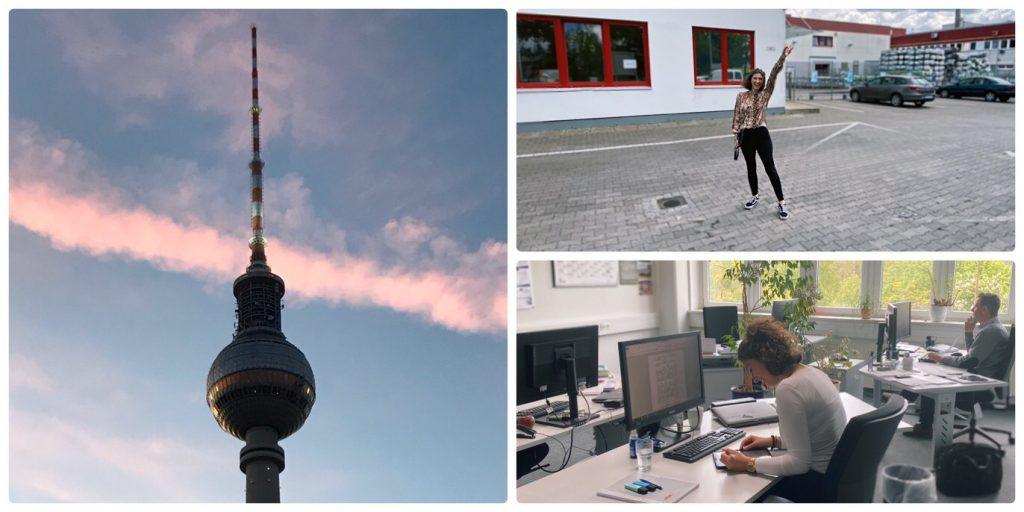 Eine Collage aus Bildern von unserer Studentin Vanessa in Berlin