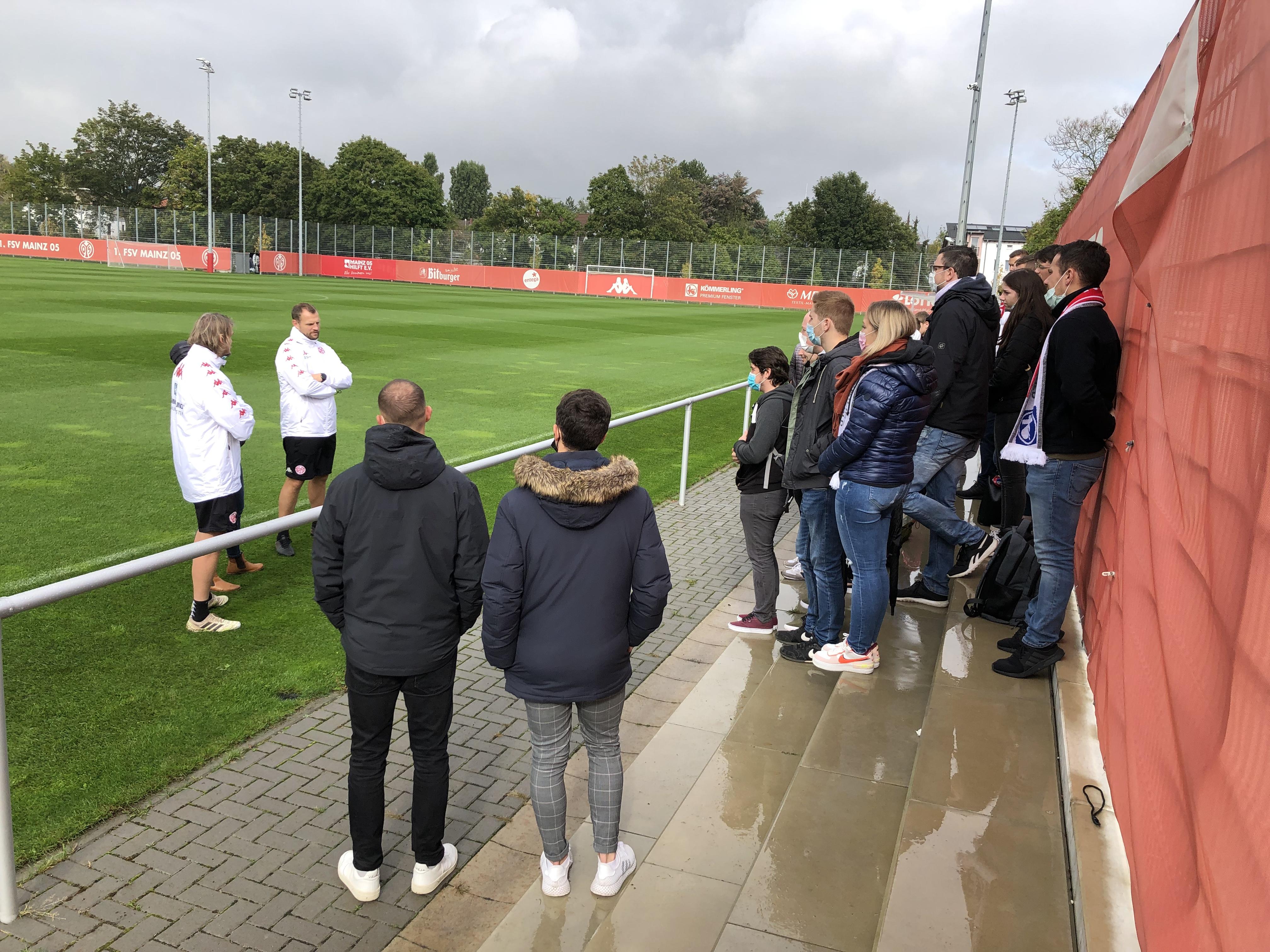 Talk mit den Mainzer Trainern.