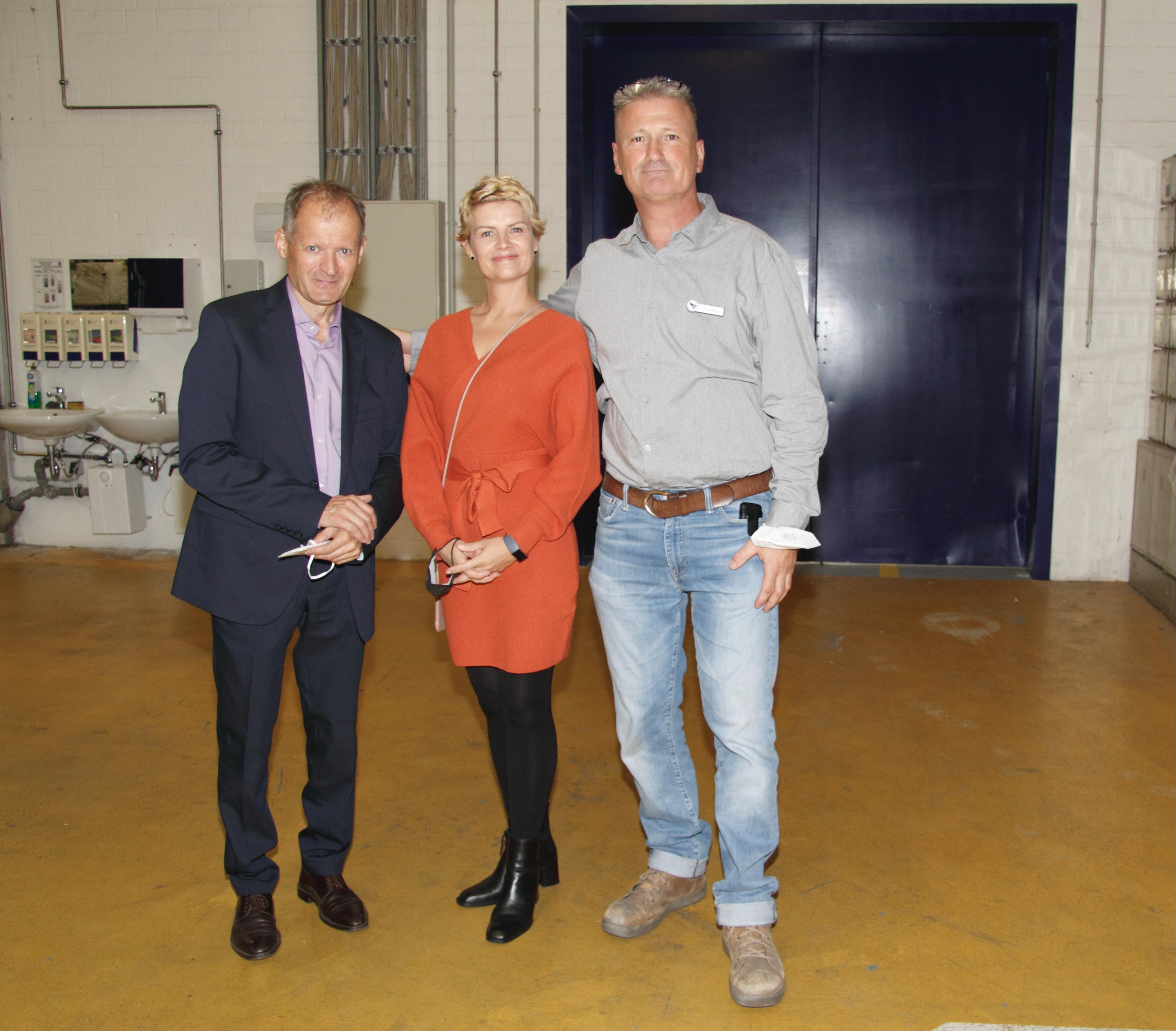 Die Kollegen Norbert Atzler, Stefanie Werner und Thomas Brauns.