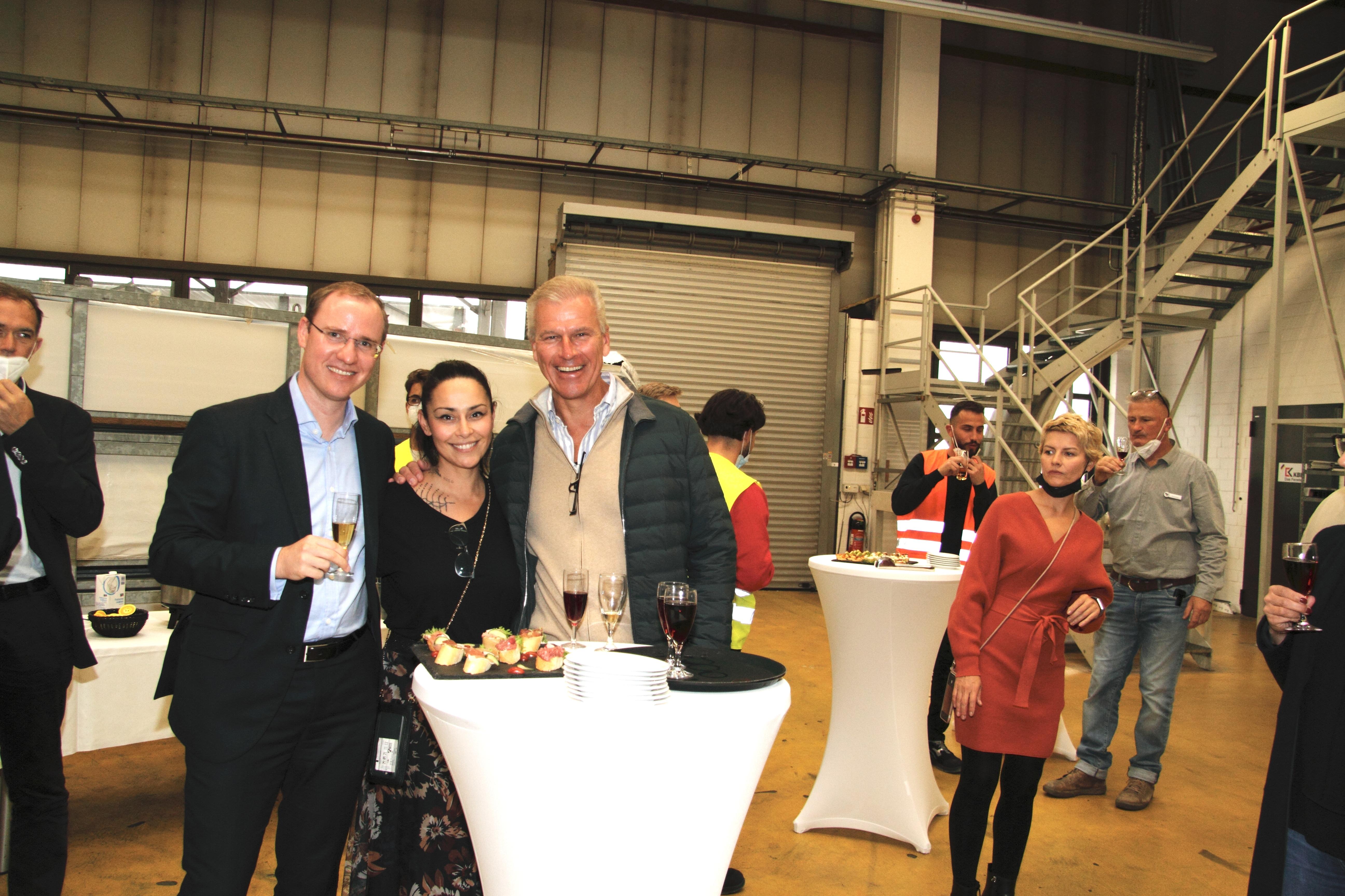 Unsere Geschäftsführer Dr. Peter Mrosik und Marc Böttger sowie Christiane Beese.