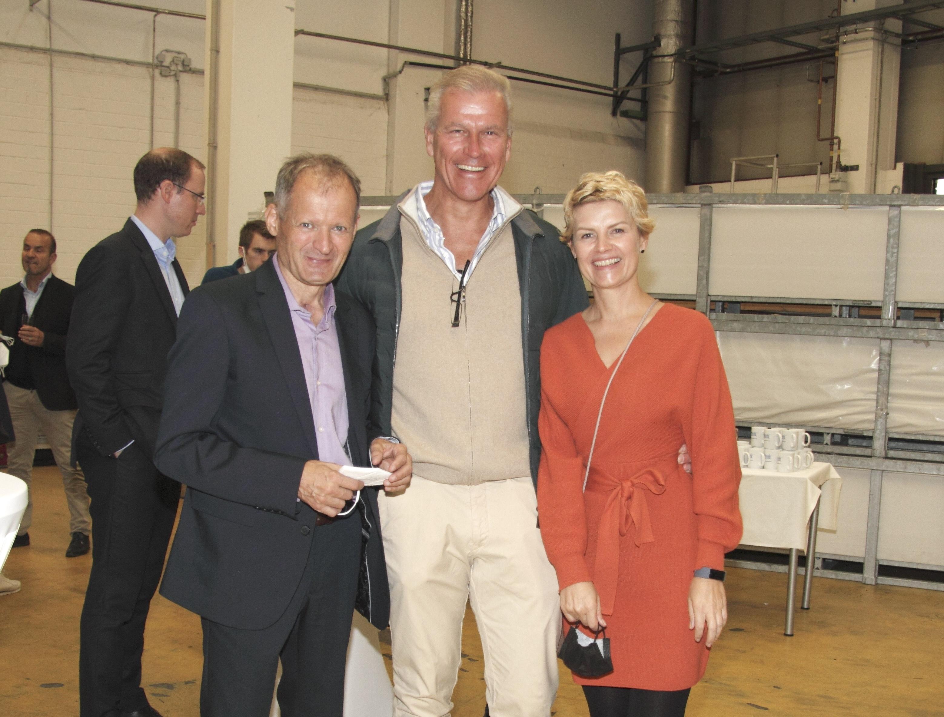 Dr. Peter Mrosik und unsere Kollegen Norbert Atzler und Stefanie Werner.